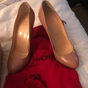 Authentic Christian louboutin nude